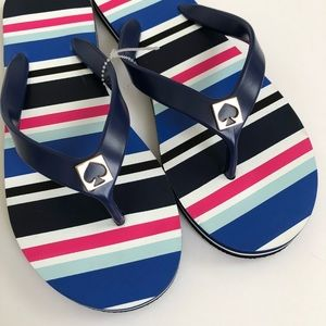 Kate Spade Striped Multicolor Thong Flip Flop